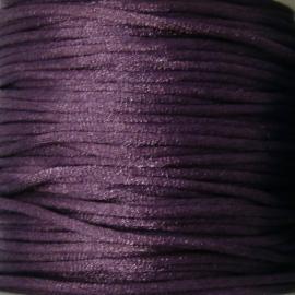 satijnkoord 2mm 5 meter kleur donker paars