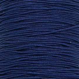 mousetailkoord 0,7mm (dun satijnkoord) - kleur donker blauw nr. 010 - 5 meter (BMT-02)