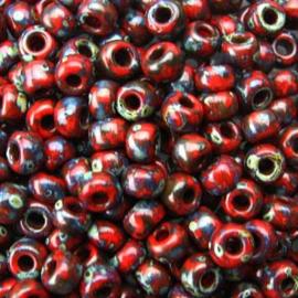 MR8-4513 Miyuki Rocailles 8/0 - 10 gram - kleur opaque picasso red