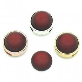 polariscabochon 11,8 mm - kleur Dark Siam (CAB-12-003)
