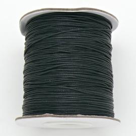 waxkoord 0,5 mm 1 meter kleur zwart
