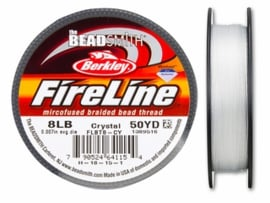 Fireline 8 LB (dikte 0,22mm) 50 yards (45m) kleur Crystal 8LB