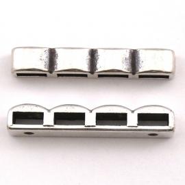 10-0063 verdeler 4-rij 5x34mm (gaten bestemd voor 5mm leer)