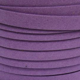imitatie suede veter 10mm breed kleur paars - 20cm