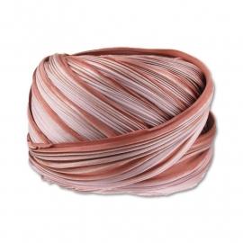 Shibori Silk Ribbon - color Mocha - lengte 20cm (FCR-580)