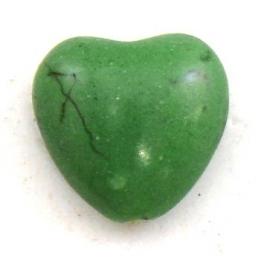 keramiek bolle hartvorm kraal 15mm kleur groen (BJ600)