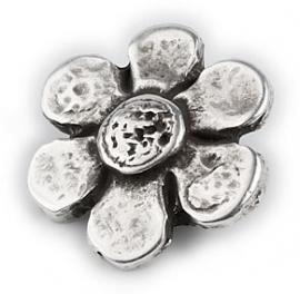 DQ metaal schuifkraal bloem voor 10mm breed leer (B04-001-AS)