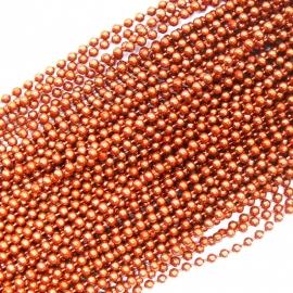 ballchain 2mm - lengte 1m (code BJ936) kleur roodkoper