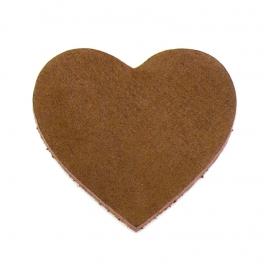 DQ leather gestanste hart 45x55mm - dik 4,5mm kleur buffel natural (ST-HART-002)