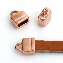 DQ metaal ROSEGOUD eindkap 9x11mm (gat 2,5x6mm) (B06-003-RG)