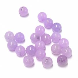 glaskraal lila rond 8 mm (BJP021) - 10 stuks