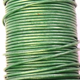 DQ leer 2mm rond (1 meter) kleur appelgreen