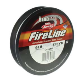 Fireline 6 LB (0,20mm) 125 yards (114m) kleur Crystal 6LB