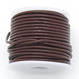 DQ rond leer 1,5mm - kleur Tan Brown- 1 meter (BRL-01-41)