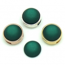 polariscabochon 11,8 mm - kleur Emerald (CAB-12-012)
