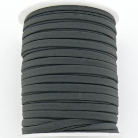 Habota elastischi zijdekoord - kleur Grey - 3x5mm - lengte 2 meter (no 14)