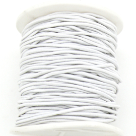 stoffen elastiek 2mm dik lengte 2 meter - kleur wit