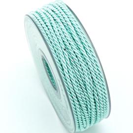 gedraaid koord 3mm dik - kleur mint - (KL304655) - lengte 2 meter