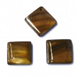 schelp vierkant 15x15mm kleur parelmoer bruin (BJSC027)