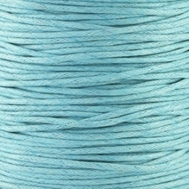 waxkoord 1mm 1 meter kleur licht blauw (BK9788)