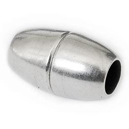 DQ metaal magneetsluiting ovaal voor 5mm rondleer (B07-011-AS)