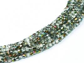 FPB 2mm kleur Crystal Vitrail  - FPB2 00030/28101 - circa 150 kralen