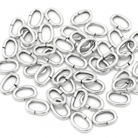 DQ open ringetje ovaal 5,5x8mm 1.2mm dik zware kwaliteit 20 stuks (B05-039-AS)