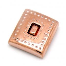 DQ metaal ROSE GOUD magneetsluiting vierkant voor 20mm plat leer gat 2,5x20mm (B07-057-RG)