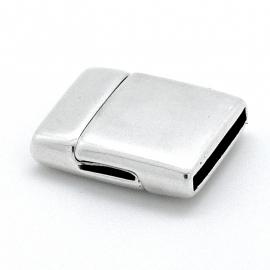 DQ metaal magneetsluiting voor 15mm plat leer, gat 2x15mm (B07-095-AS)
