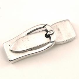 DQ metaal magneetsluiting gesp voor 10mm breed plat leer (lengte slot 4cm) (B07-017-AS)