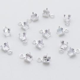 eindstukje cupchain 2,7mm kleur zilver - 10 stuks