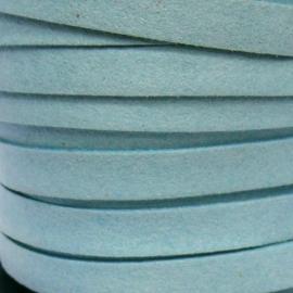 imitatie suede veter 10mm breed kleur lichtblauw - 20cm