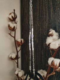 Mondkapkoordje lila op ketting