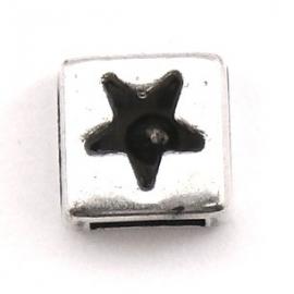 10-0276 vierkant met uitgestanste ster 9mm