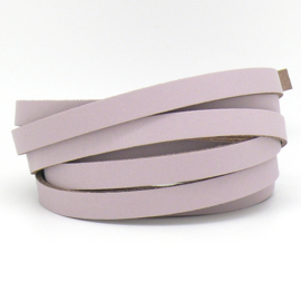 DQ leren band smal 10mm - 2,1 dik circa 100cm lang - kleur trend Paloma (PL10-029)