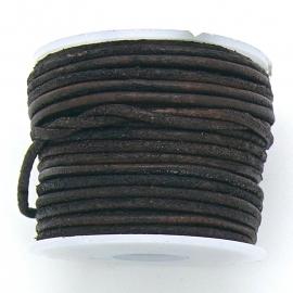 DQ rond leer 1,5mm - kleur Vintage Brown - 1 meter (BRL-01-44)