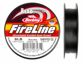 Fireline 8 LB (dikte 0,22mm) 50 yards (45m) kleur Smoke 8LB