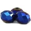 glaskraal facet 4x6mm disk cobaltblauw (BK7382) 25 stuks