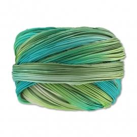 Shibori Silk Ribbon - color Deepsea Mermaid - lengte 20cm (FCR-579)