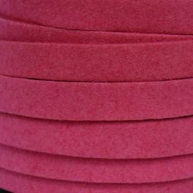 imitatie suede veter 10mm breed kleur fuchsia - 20 cm