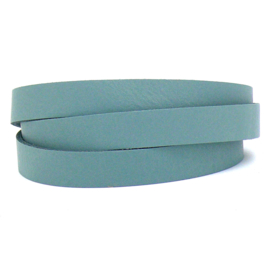 DQ leren band smal 15mm - 2,1 dik circa 100cm lang - kleur trend Provence Blue (PL15-006)