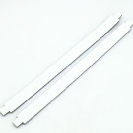 leren band 14mm breed kleur wit - lengte 17cm (OL-50)