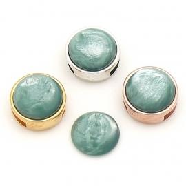 polariscabochon pearl 12mm - kleur shine jade (CAB-12-024)