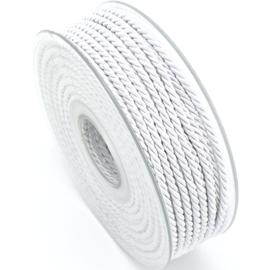 gedraaid koord 3mm dik - kleur wit - (KL304601) - lengte 2 meter