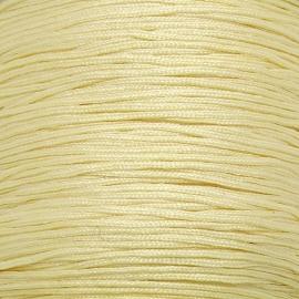 mousetailkoord 0,7mm (dun satijnkoord) - kleur lichtgeel nr. 025 - 5 meter (BMT-10)