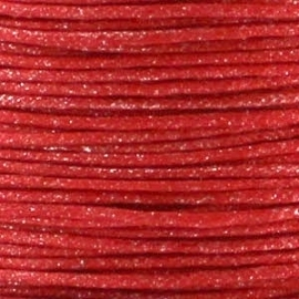waxkoord 1mm 1 meter kleur metalic rood (BK18538)