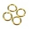 DQ metaal GOUD open ring 10mm 1.2mm dik - 10 stuks (B05-007-SG)