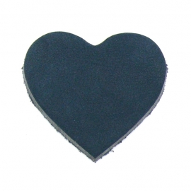 DQ leather gestanste hart 45x55mm - dik 4,5mm kleur buffel navy (ST-HART-004)