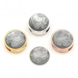 polariscabochon pearl 12mm - kleur grey (CAB-12-023)