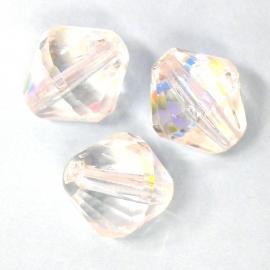 (BJW029) glaskraal crystal AB facet 13x14mm